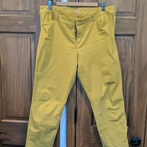 Yellow ankle chino Pixie pants